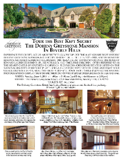 Greystone Mansion Tour June 9